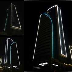 Ankara Yelken Plaza Dış Cephe Linear LED Aydınlatma