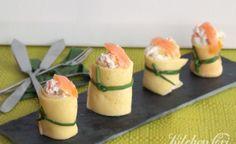 Rotolini di crepes con salmone e carciofi