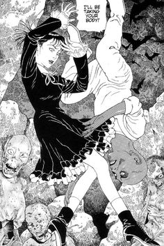 Suehiro Maruo - The Laughing Vampire via: Yellowmenace