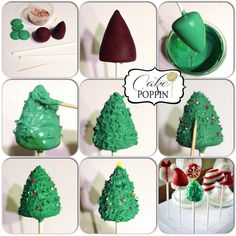 Christmas tree cake pop tutorial from Cake Poppin