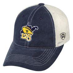 ca2c19c5 West Virginia Mountaineer 125 Years of WVU Football Hat Mountaineers  Football, Wvu Football, West