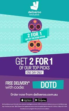deliveroo promo flyer w/ offer code