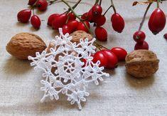 Dekorácie - *** háčkované snehové vločky - M*** - 7273832_