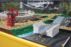 London Olympic Park Lego replica. Made out of 250,000 bricks