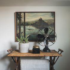 vintage painting // 1920s fan