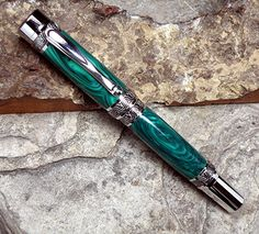 Image detail for -Malachite Fountain Pen by RECTurnings on Etsy