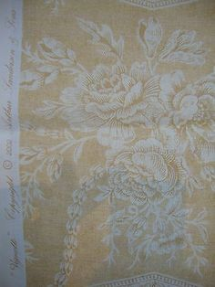 80cm-SANDERSON-Vignette-toile-de-jouy-cotton-curtain-fabric-remnant