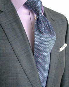 BRIONI  Grey Glen Plaid with Navy and Blue Windowpane Suit