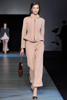 Giorgio Armani Fall 2011 Ready-to-Wear Fashion Show - Yulia Kharlapanova