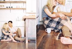 Kitchen Engagement Shoot - Phoenix Wedding Photographer - Melissa Jill Photography