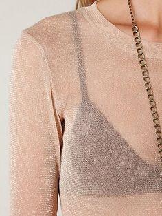 Glitter Mesh Layering Top