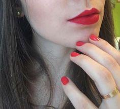 Ruby woo Mac lipstick + NYC nail polish 224 Times Square