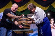 Oktoberfest 2015 Ciampino  stappo prima botte cerimonia apertura