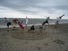 Dragonball Z effect at the beach-- taking 'Jumping Photos' to a whole new level.