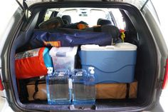 Packing for car camping - we are organized! Packing for car camping - we are organized! Jeep Camping, Camping Games, Camping Survival, Camping Equipment, Camping Meals, Family Camping, Camping Stuff, Survival Tips, Winter Camping