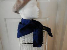 Navy Blue Vintage Headscarf from The Club by RETROSCARVESANDTIES, £5.00
