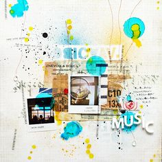 2 photos + paint- Love the bold splashes of color!!!