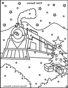 the best polar express coloring sheets free httpcoloringalifiah