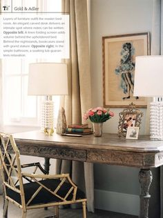 The chair, the desk, everything in this pic is beautiful.   Nate Berkus Interiors | Phoenix Home | Traditional Home