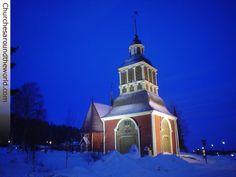 Overtornea Church, Artic Circle Line, Sweden