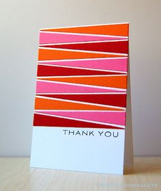 Bold and Graphic Thank You Card by Cristina Kowalczyk for Papertrey Ink (September 2012)