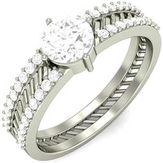 #18k #White #Gold #Prong #Set #Solitaire #Diamond #Engagement #Ring  #wedding #engagements #fashion