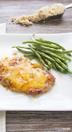 cheesy garlic pork chops