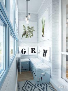 Фото Дизайн небольшой квартиры для девушки (балкон) - интерьеры, квартира, дом, скандинавский, балкон, лоджия, терраса, 0 - 10 м2
