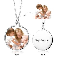 I cherish and adore you - Sterling Silver Color Photo Necklace 2017 hottest write name on jewellery. Come to Yafeini to pick your beloved Personalized necklace https://www.jewelrypersonalizer.com