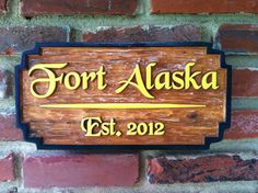 The Carving Company | Full Service Custom Carved Sign Shop | Wood Carved Cabin Sign (C4)