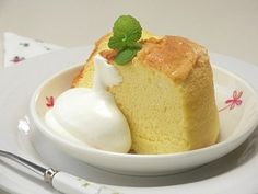 炊飯器で、しっとり豆乳蜂蜜シフォンケーキ