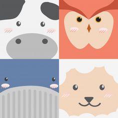 Cute Cartoon Animals, Animal Faces, Animal Crafts, Cute Drawings, Cookie Decorating, Chibi, Vector Free, Doodles, Sugar Cookies