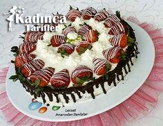 Çilekli Yaş Pasta Tarifi Turkish Recipes, Cake Recipes, Birthday Cake, Desserts, Food, Videos, Tailgate Desserts, Deserts, Easy Cake Recipes