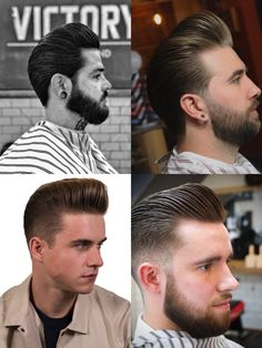 Top 40 Pompadour Hairstyles for 2018 - Men's Hairstyles Classy Hairstyles, Cool Hairstyles For Men, Haircuts For Men, Men's Hairstyles, Beard Styles, Hair Styles, Pompadour Hairstyle, Dslr Photography Tips, Men's Grooming