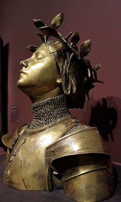 Jeanne d Arc, Antonin Mercie Joan D Arc, Saint Joan Of Arc, St Joan, Sculpture Art, Sculptures, Jeanne D'arc, Female Knight, Patron Saints, Fantasy Landscape