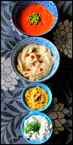 MsMarmiteLover: Dippety do dah! Dip recipes including Yoghurt dip, Red pepper dip, Babaganoush and Yellow Pepper Dip with Walnut Vitamix Recipes, Blender Recipes, Dip Recipes, Raw Food Recipes, Great Recipes, Yummy Recipes, Cooking Recipes, Healthy Recipes, Winter Food