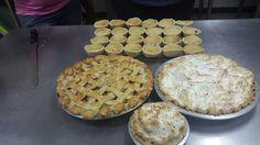 Apple pie ,coconut cream pie and jam tarts