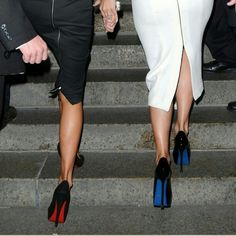 visualvixen:    Louboutin and YSL    uh the skirt on the left, so perfect