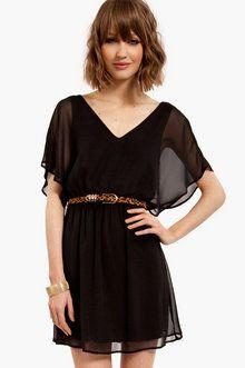 Dolly Chiffon Dress in Black