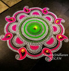 Latest Rangoli Designs for Diwali Browse over Ideas & Images on rangoli design for Diwali festival. Diwali is never complete without rangoli colours. Indian Rangoli Designs, Rangoli Designs Latest, Latest Rangoli, Simple Rangoli Designs Images, Rangoli Designs Flower, Colorful Rangoli Designs, Beautiful Rangoli Designs, Rangoli Colours, Rangoli Patterns