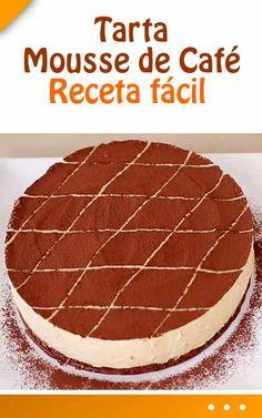 Tarta Mousse de café. Receta fácil Short Ribs, Cheesecakes, Tiramisu, Catering, Food To Make, Food And Drink, Low Carb, Sweets, Dishes