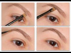 Eyebrow Makeup Tutorial with eyeshadow MAC.