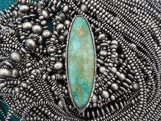 """Show stopping 5"""" X 1.5"""" Royston Ring by Dinê artist Cooper Willie"""