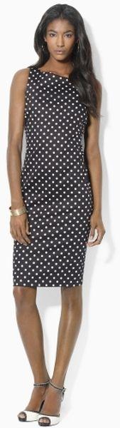 Lauren by Ralph Lauren Sleeveless Polkadot Dress