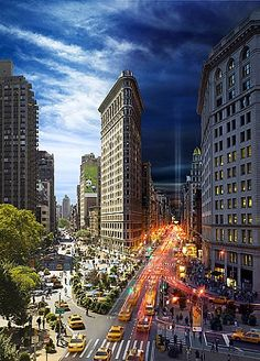 Stephen Wilkes, Flatiron Building, Day To Night (2012)