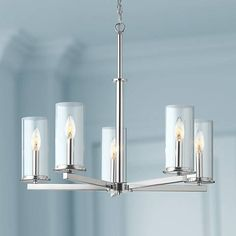 "Kichler Crosby 26 1/4"" Wide Dual-Chrome 5-Light Chandelier"