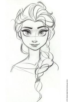 Portraiture of Elsa, from the movie Frozen.