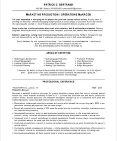 marketing production manager - Sample Product Manager Resume