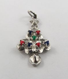 A Sterling Silver Charm of a Christmas Tree by Collectables928
