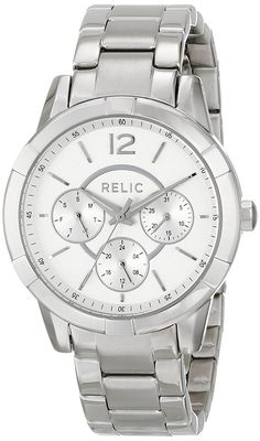 Relic Women's Payton Multi Silver-Tone Watch >>> See this great… Relic Watches, Cool Watches, Black Friday Deals, Stainless Steel Case, Fashion Watches, Michael Kors Watch, Chronograph, Fashion Jewelry, Quartz